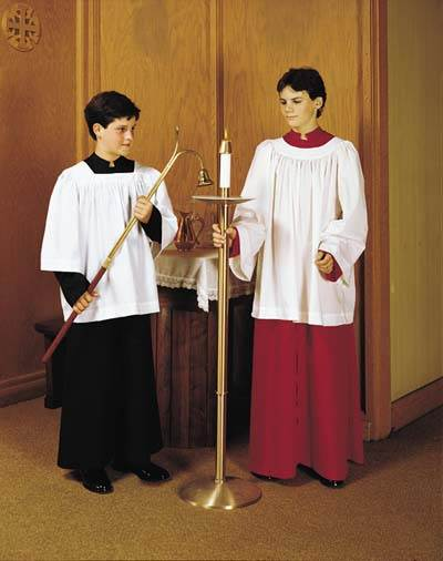 RJ Toomey Full Cut Server Cassock RJ Toomey Full Cut Server Cassock,600F,620F,610F,clergy shirt, clergy apparel, church goods, church apparel