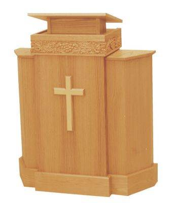 367 Pulpit with Wood Cross