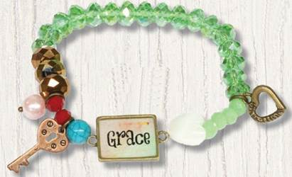Grace Stretch Beaded Bracelt with Charms