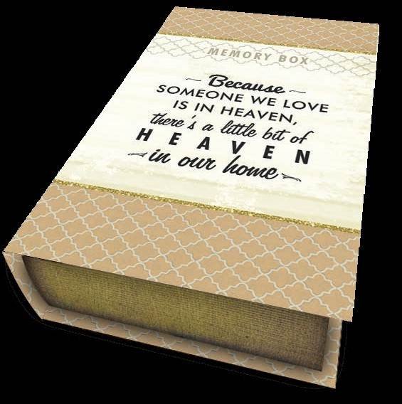 "Because Someone We Love Keepsake Box 6 1/2"" X 10"""