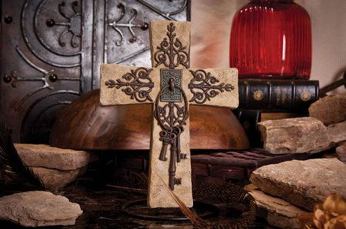 Decorative Cross with Keys
