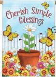 Cherish Simple Blessings House Flag