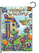 Friends Welcome Garden Flag