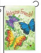 Butterfly Welcome Garden Flag