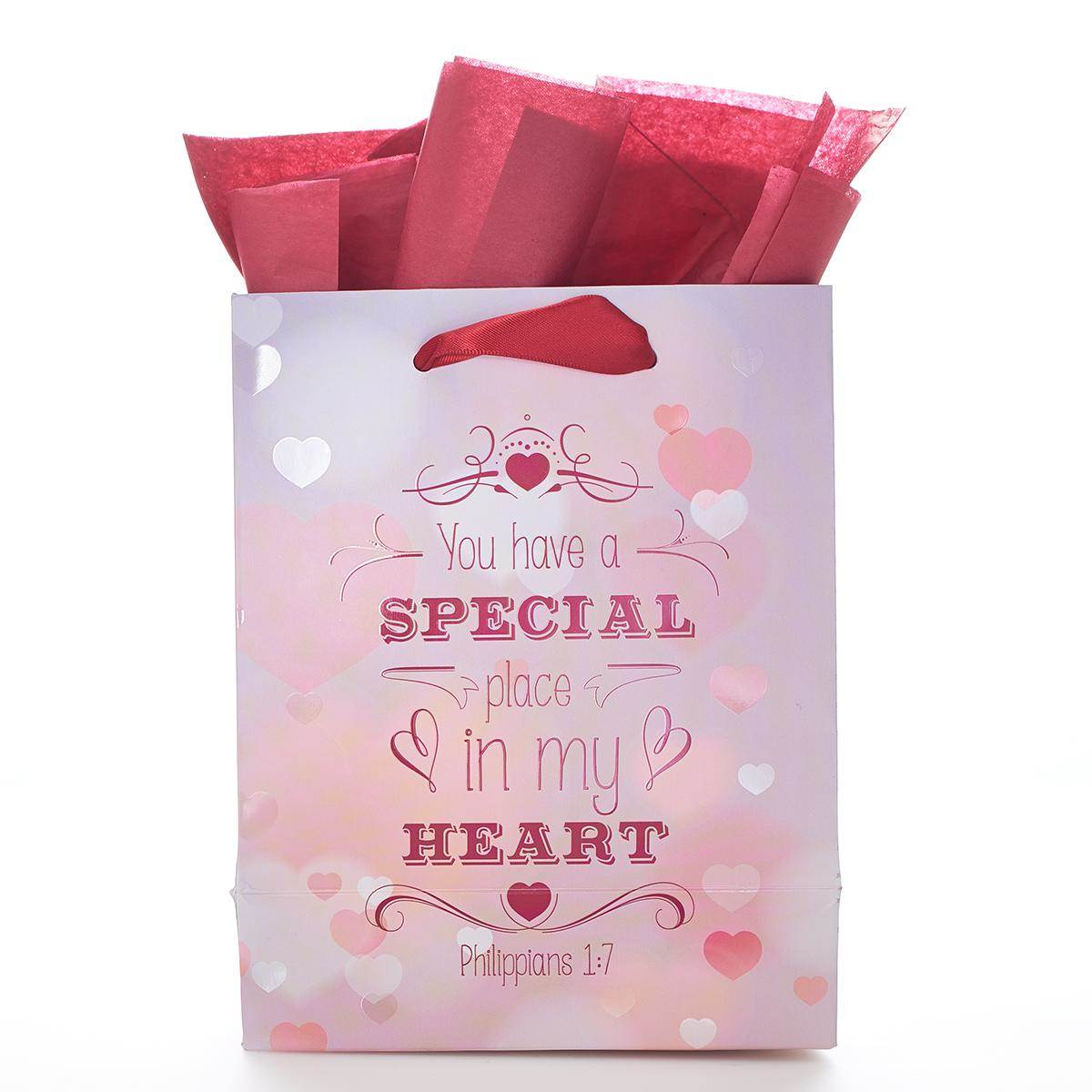 Place in My Heart Small Gift Bag GBA128, gift bag, small bag, special occasion bag, stationary, valentines day, love