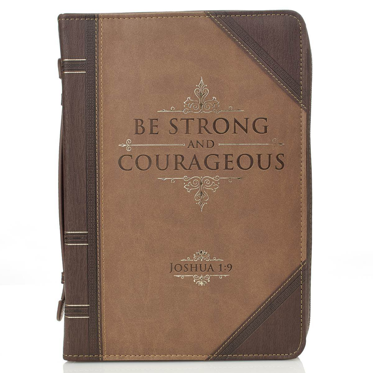 Strong and Courageous Large Bible Case