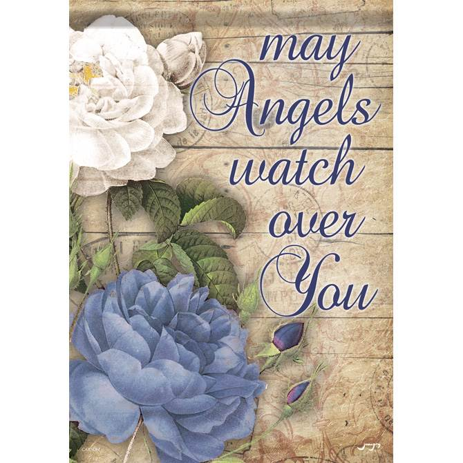 Angels Watch Over You Garden Flag