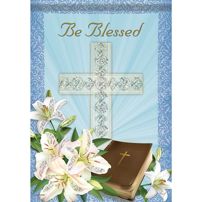 Be Blessed Garden Flag