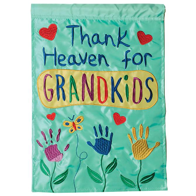 Thank Heaven for Grandkids Garden Flag
