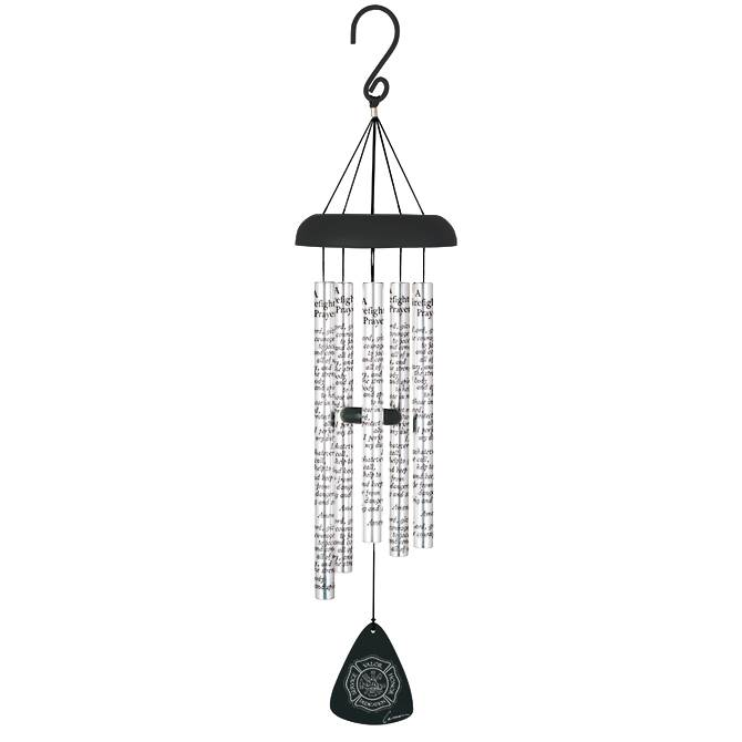"30"" Wind Chime Firefighter's Prayer"