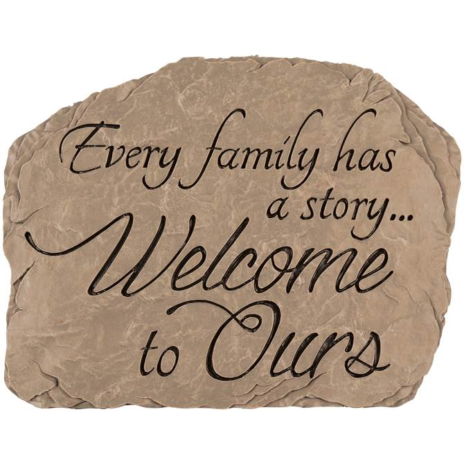 Family Welcome Garden Stone