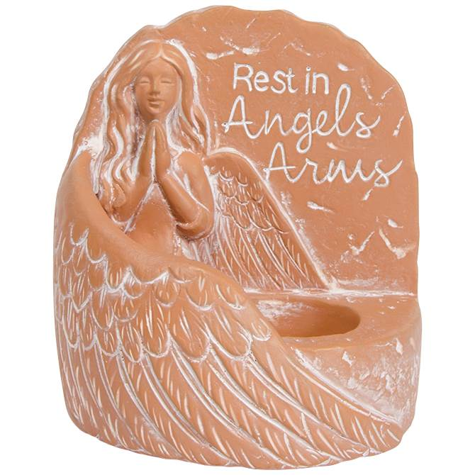 Memorial Tealight Holder, Angels Arms tealight, tealight holder, memorial candle, in memory, home d?cor, loss of loved one gift, memorial gift, angel gift,11160