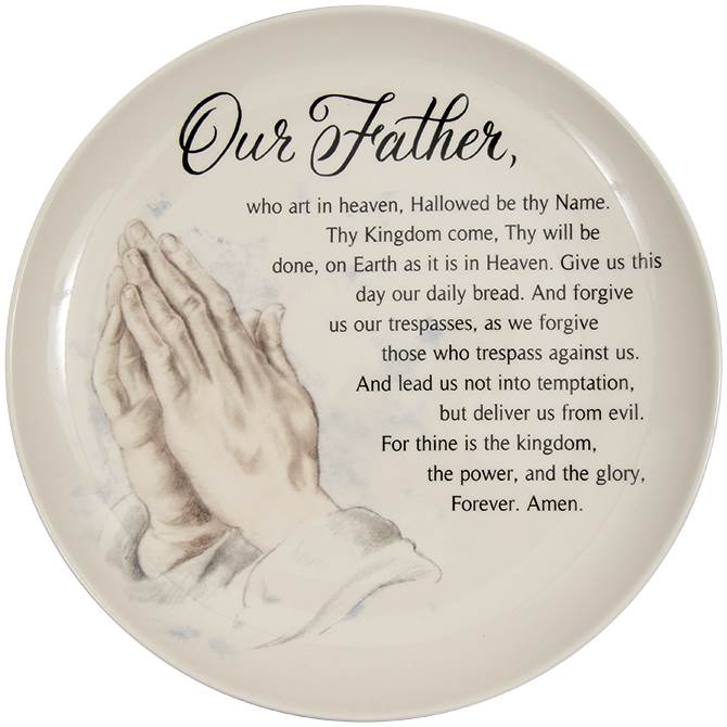 Lord's Prayer Ceramic Plate