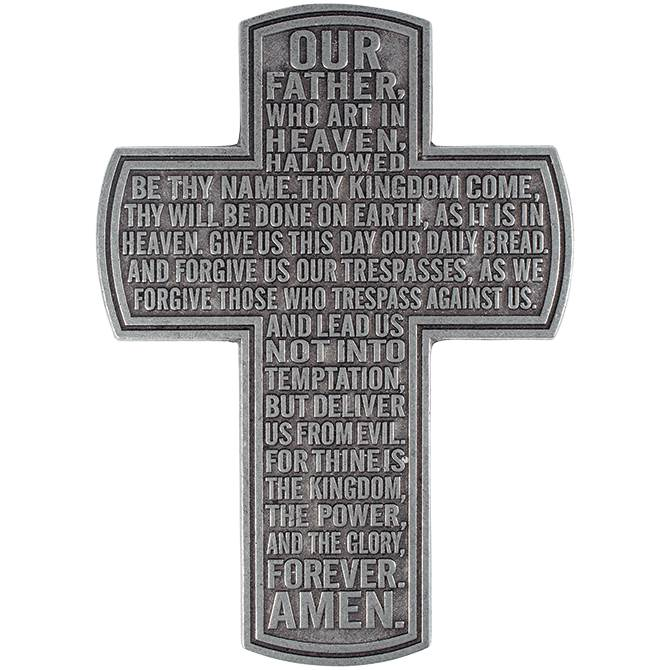 "12"" Lord's Prayer Statesmetal Cross"