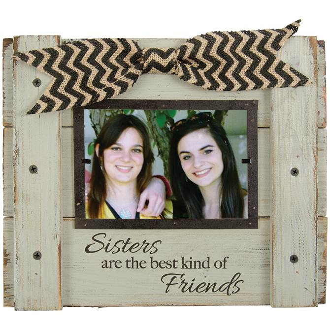 Sisters Wood Photo Frame