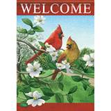 Cardinals on Dogwood House Flag