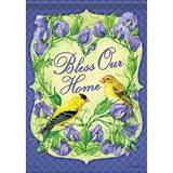 Goldfinch Blessings House Flag