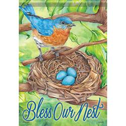 Bluebird Blessing Garden Flag