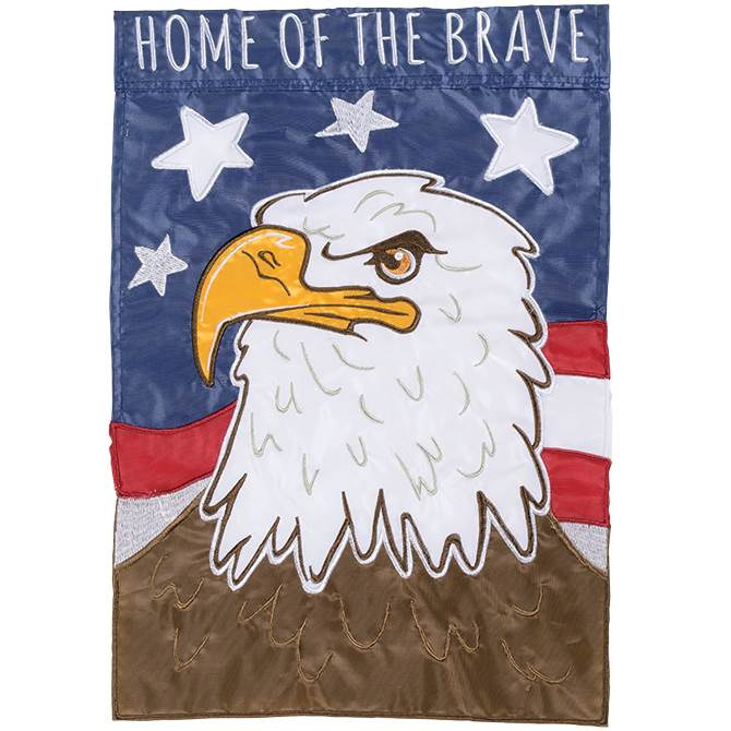 Home of the Brave Garden Flag