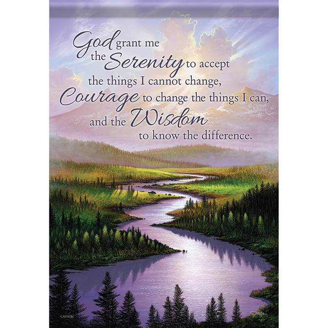 Serenity Prayer Garden Flag