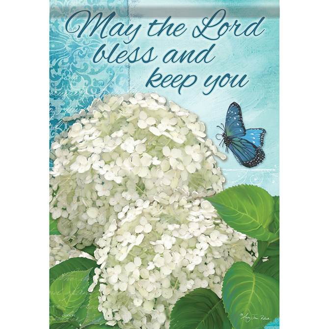 Bless and Keep You Garden Flag