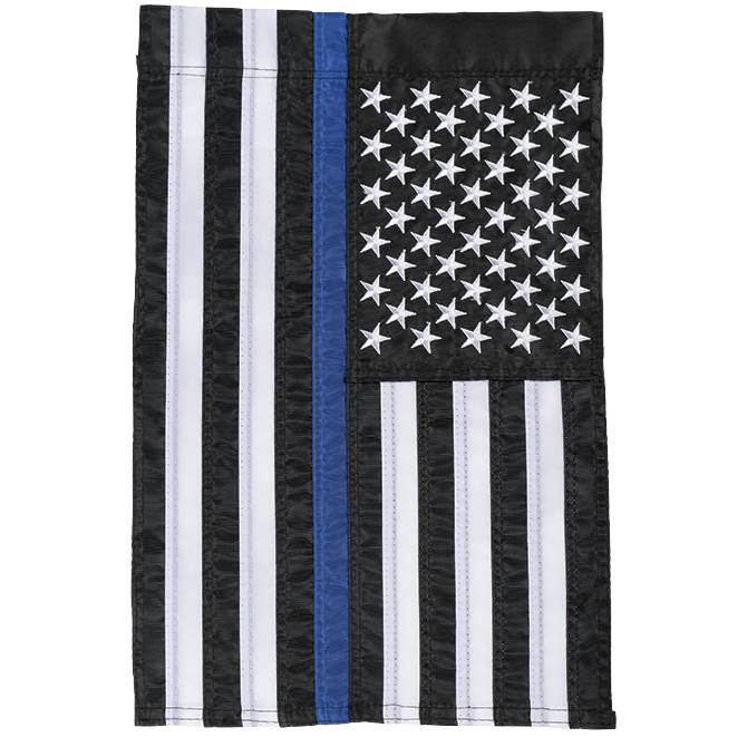 Thin Blue Line Garden Flag garden flag, house flag, occasion flag, outdoor flag, landscape, decorative flag, yard flag, new house gift, holiday gift, memorial, loved one, patriotic, police55309