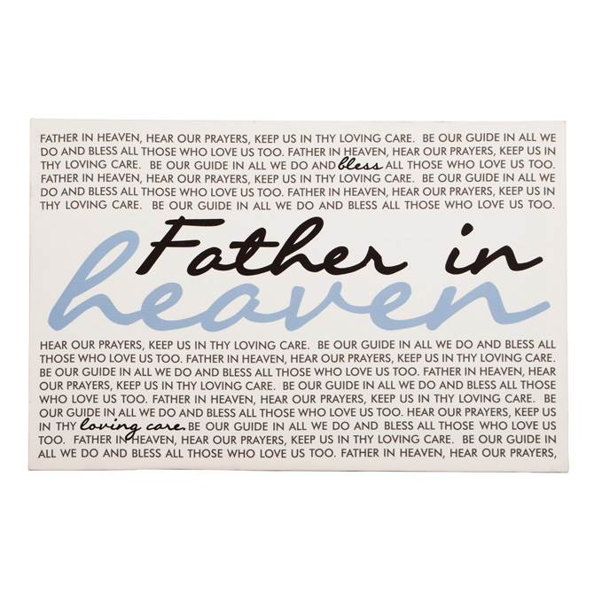 Father in Heaven Wall Decor