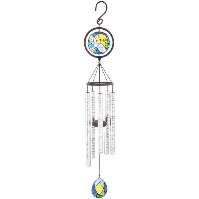 "Amazing Grace 35"" Stained Glass Wind Chime"