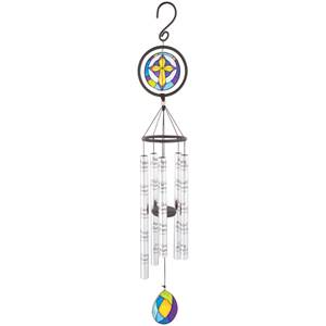 "Moments 35"" Stained Glass Wind Chime"