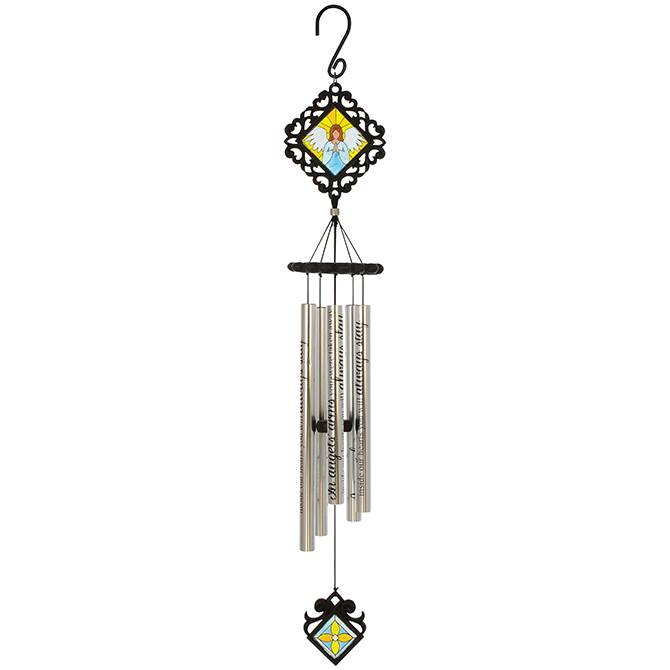 "Angels' Arms 35"" Stained Glass Wind Chime"