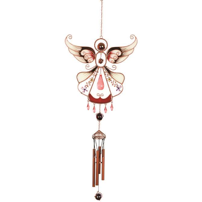 Glow in the Dark Red Angel Windchime