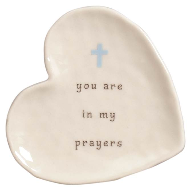 Prayers Mini Heart Shaped Plate