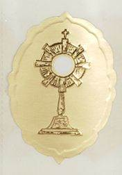 Embossed Monstrance Seal gift wrap, sticker, gift seal, envelope seal, tissue wrap seal , sacramental occasion, STW-21