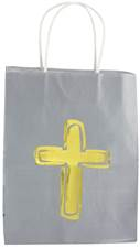 Gold Cross Gift Bag