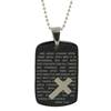 Dog Tag with Cross Necklace