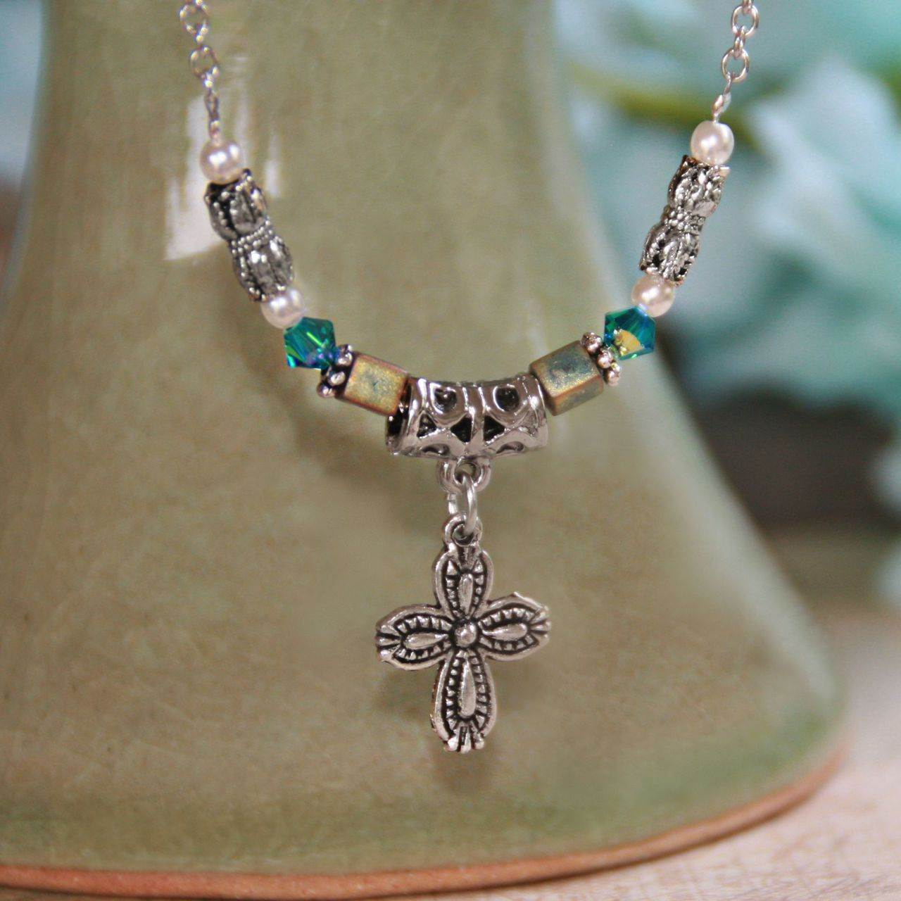Prayer Changes Things Cross Necklace