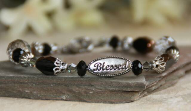 Blessed Black Beaded Bracelet