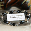 Black Crystals and Crosses Bracelet