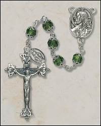 7MM Double Capped Emerald Rosary