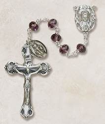 6MM Crystal Amethyst Rosary