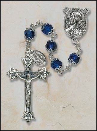7MM Double Capped Sapphire Rosary