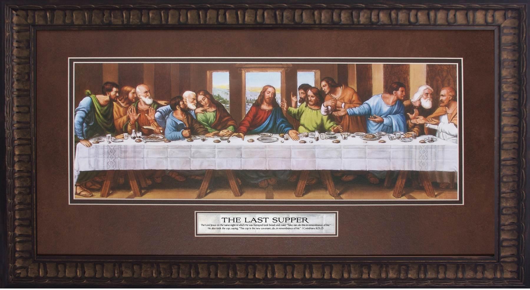 the last supper framed wall art. Black Bedroom Furniture Sets. Home Design Ideas
