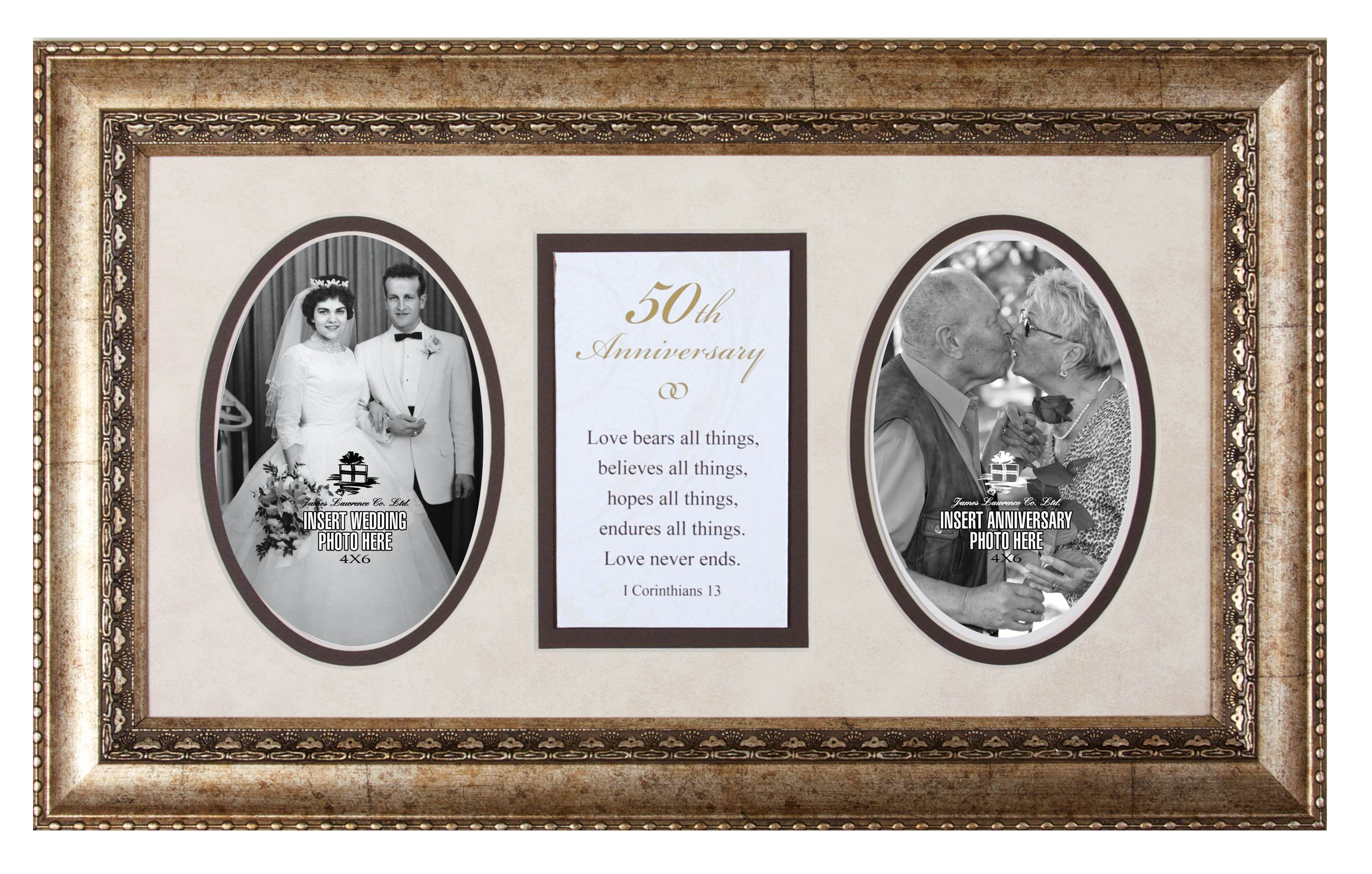 50th Anniversary Photo Frame with Verse