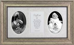 Baptism Photo Frame with Verse framed picture, inspirational message, home decor, wall decor, framed art, words of grace, 2614