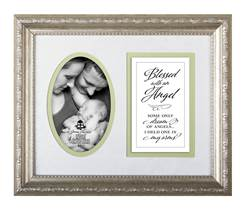 Blessed with an Angel Photo Frame and Verse framed picture, inspirational message, home decor, wall decor, framed art, words of grace, 7042