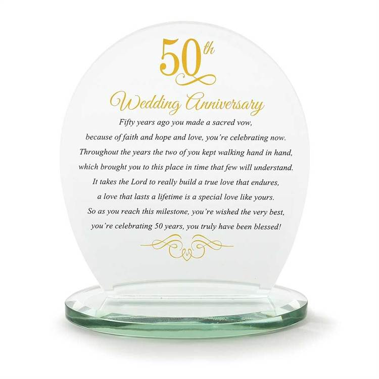 50th Anniversary Glass Plaque