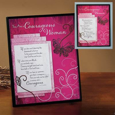 Courageous Woman Plaque*WHILE SUPPLIES LAST*