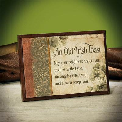 An Old Irish Toast Plaque*WHILE SUPPLIES LAST* 56730U, irish plaque, irish toast, home decor, wall decor, irish gift