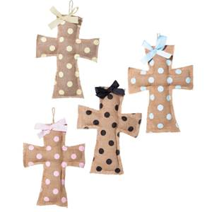 Assorted Burlap Wall Cross