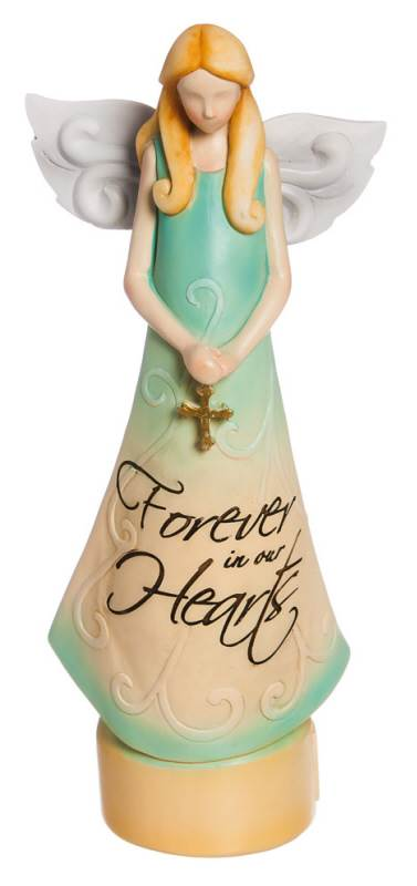 Forever In Our Hearts Angel Statue angel statue, statue base with drawer, home decor, inspiratinal gift, support gift, special occasion, 8tts005